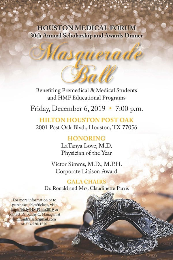 Houston Medical Forum 30th Annual Scholarship and Awards Dinner