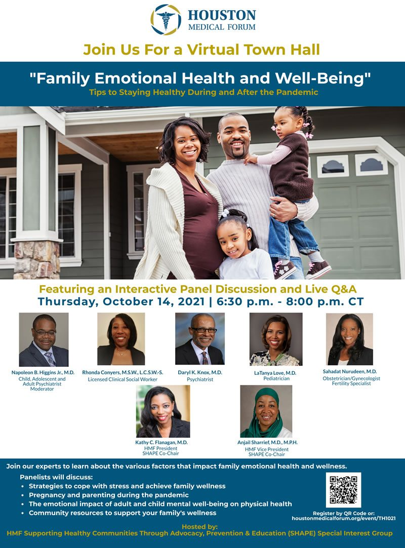 Houston Medical Forum Family Emotional Health and Well-Being Town Hall
